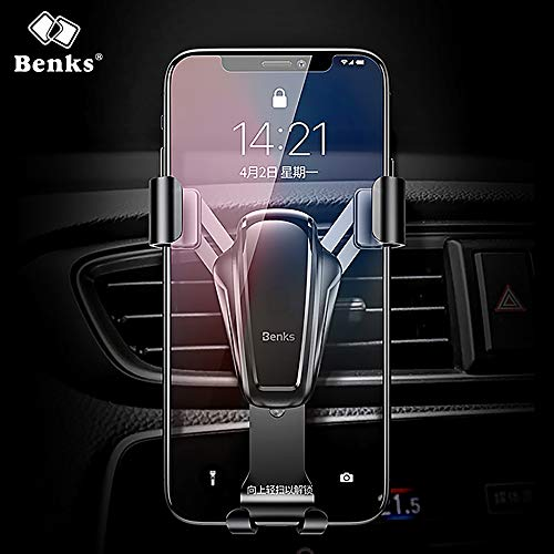 BENKS H11 Gravity Induktions-Auto Kfz-Unterstützung, Kfz-Halterungen, Kfz-Unterstützung Auto-Unterstützung für Smartphones, Samsung, Android, Huawei P9 P10 [ Tief Graü ]