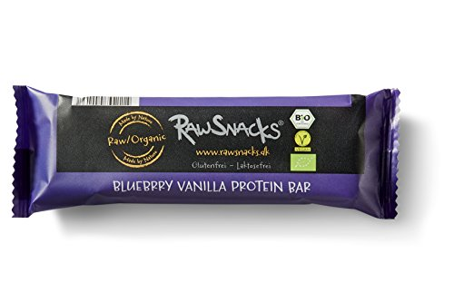 Raw Snacks Organic Blueberry Vanilla Protein Bar, 6er Pack (6 x 40 g)