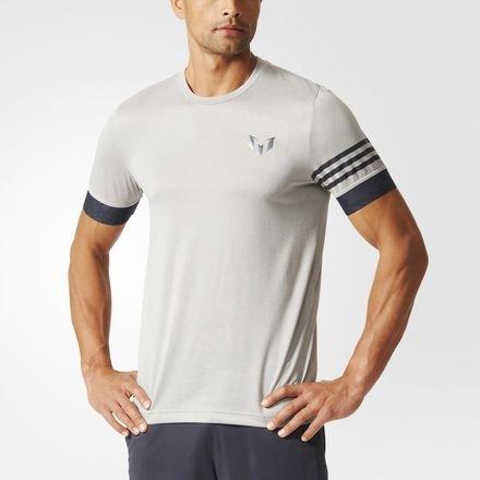 adidas Messi Training Tee T-Shirt Grau Schwarz Grau