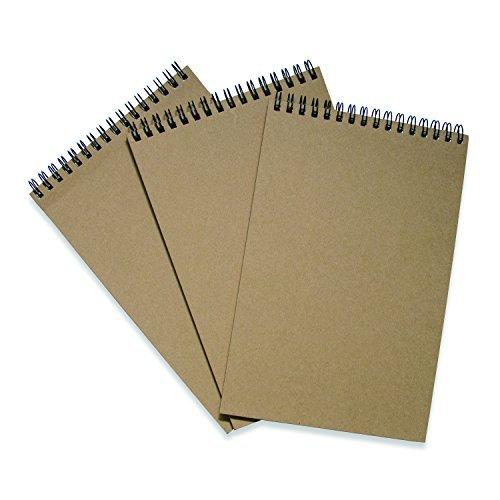 Kraftpapier, Notebooks (A5Größe, Set von 3) (oben gebunden Spirale) (Top-spirale Gebunden Notebook)