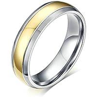 Daesar Anelli Acciaio Inossidabile Argento Oro Tone Bicolor Anello Di