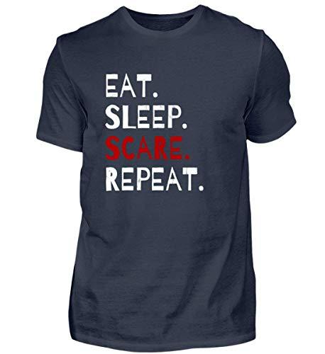 Eat Sleep Scare Repeat - Diabolischer Spaß am Erschrecken und Fürchten zu Halloween - Herren Organic Shirt