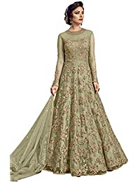 dfbbdd89105 Amazon.in  Net - Dress Material   Ethnic Wear  Clothing   Accessories