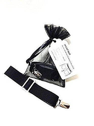 Secret Belt der Gürtel ohne Schnalle nur mit Clips schwarz One size -