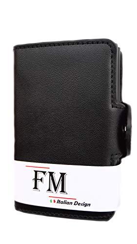 25a1303c3d Porta Carte di Credito FM – Porta Carte di Credito Uomo, Antifrode RFID  Doppio Alluminio ...