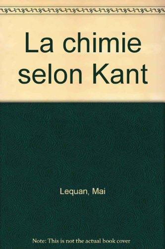 La Chimie selon Kant
