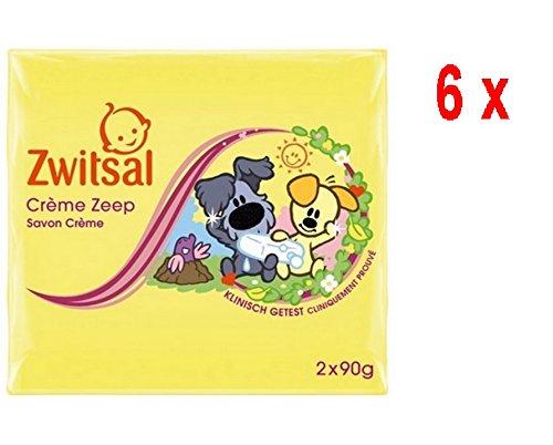 6 x ZWITSAL Baby Cremeseife - Woezel & Pip - 2 x 90 g