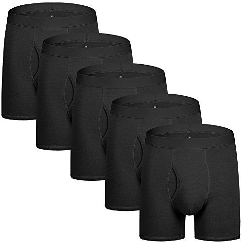 Boxershorts Herren Unterwäsche Unterhosen Männer Baumwolle Scharz Männer Unterwäsche 5er Pack M -