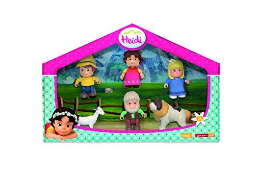 Famosa 700012780 - Heidi 4 Personaggi e 2 Animali