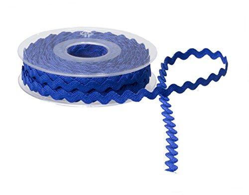 Accessories Attic 5 mm Ric Rac Band-Schleife DIY, Farben wählbar. königsblau -