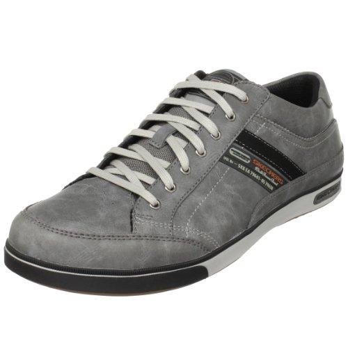 Skechers Lanyard Passport 50981 CHAR - Zapatillas de cuero para hombre, gris (dunkelgrau), talla 46