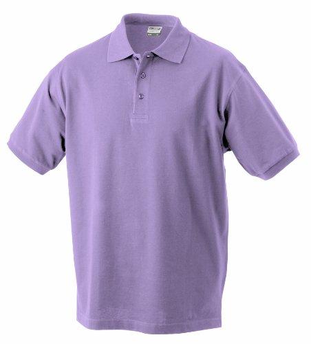 James & Nicholson Jungen Poloshirt Classic Polo Junior, Gr. X-Small (Herstellergröße: XS (98/104)), Rot (rot lilac)