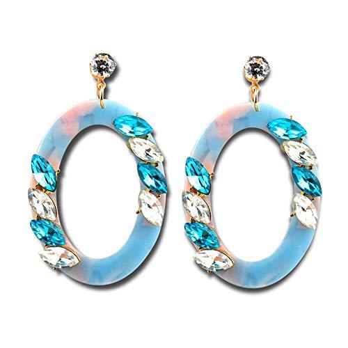 SADASD arete gota oído Inserte Diamond Earrings oval