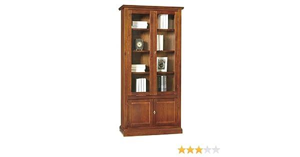Credenza Vetrinetta Arte Povera Prezzo : Lo scrigno arredamenti libreria vetrina arte povera 2 porte vetro