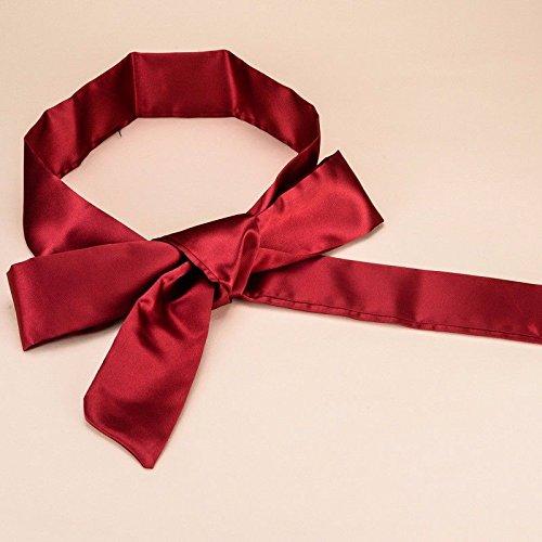 ERLINGSAN-YD Frauen Seidenband gepaart mit Kleiderbogen Knoten breite Gürtel dekorativen Schal Taille Siegel gepaart Rot -
