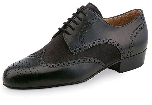 Werner noyau, Chaussures de danse homme 28023cuir [Largeur normale] Glattleder/Nubuk Schwarz