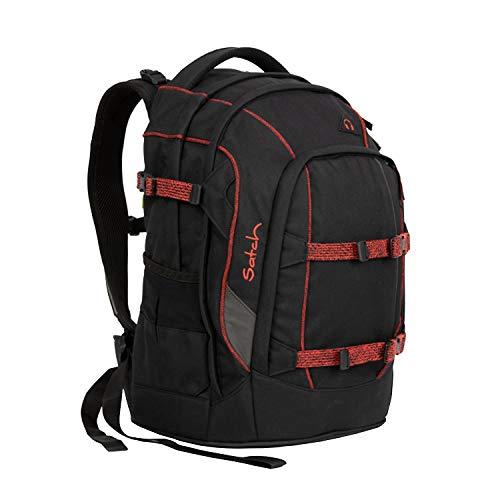Satch Pack Black Volcano - Zaino per Il Tempo Libero e Lo Sport, Unisex, per Bambini, Colore Rosso (Multicolore), Taglia Unica