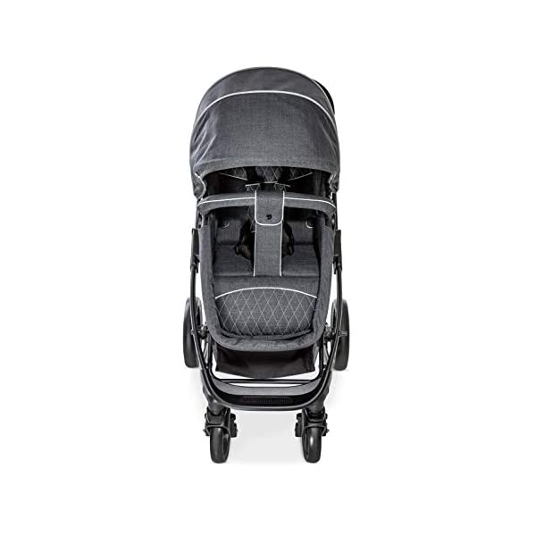 Hauck Pacific 4 Shop N Drive, Lightweight Pushchair Set with Group 0 Car Seat, Carrycot Convertible to Reversible Seat, Footmuff, Large Wheels, From Birth to 25 kg, Melange Charcoal Hauck  21