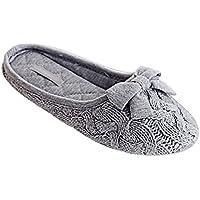 Minetom Donne Autunno E In Inverno Moda Bowknot Decorazione Tinta Unita Knit Morbido E Caldo Pantofole