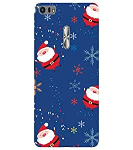 For Asus Zenfone 3 Ultra ZU680KL (6.8 Inch Phablet) santa cartoon, cartoon, pattern, blue background Designer Printed High Quality Smooth Matte Protective Mobile Case Back Pouch Cover by APEX ELEGANT