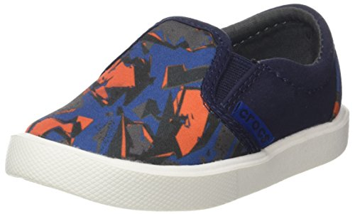 Crocs CitiLane Novelty Slip-on Kids, Unisex - Kinder Sneakers, Blau (Blue Camo), 27/28 EU
