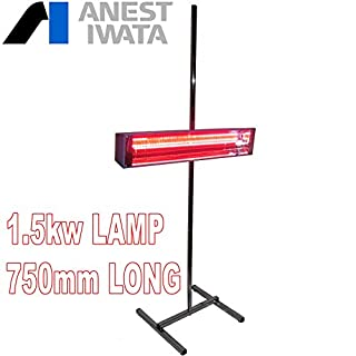 Anest Iwata 1.5kw Single Phase 750mm Wide Mobile Infra Red Car Paint Drying Lamp & Swivel Stand Perfect for drying Painted bumpers, doors and long panels