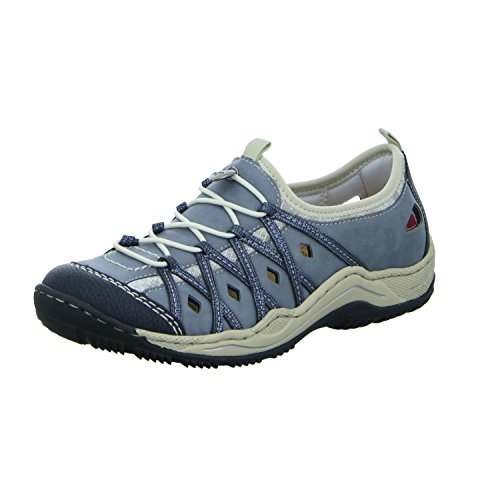 Rieker Damen Halbschuhe Blau, Schuhgröße:EUR 42