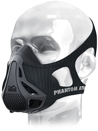 Phantom Athletics Erwachsene Training Mask Trainingsmaske, Schwarz, M