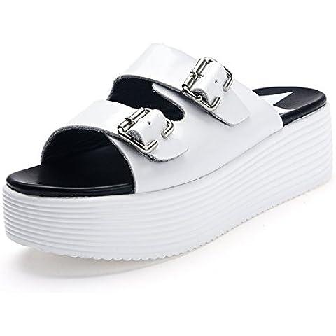 scarpe di cuoio alla fine di/ donna pantofola coreano all'aperto/Moda