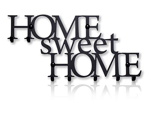 Colgador de Llaves de Pared Home Sweet Home (8 Ganchos) Percheros Decorativo de Metal Para Cocina, Garaje o Puerta de Casa   Llaves de Tienda, Trabajo, Coche, Vehículos   Decoración Vintage