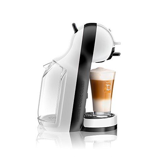 DeLonghi Dolce Gusto Mini Me EDG 305 WB - Cafetera automática, color blanco y negro