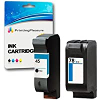 2 Cartucce d'inchiostro compatibili per HP Color Copier 180, 190, 280, 290 / Deskjet 1180c, 1220c, 1220ps, 1280, 6120, 6122, 6127, 9300, 930c, 930cm, 932c, 935c, 950c, 952c, 959c, 960c, 970cse, 970cxi. 980cxi, 990cse, 990cxi, 995c, 995ck / Fax 1220 / Officejet g55, g85, g95, k60, k80, 1170 / Photosmart 1000, 1100, 1115, 1215, 1215vm, 1218, 1218xi, 1315, P1000, P1100, P1100xi, P1215, P1215vm, P1218, P1218xi, P1315 / Sostituzione per HP 45 (C51645AE) & HP 78 (C6578AE)
