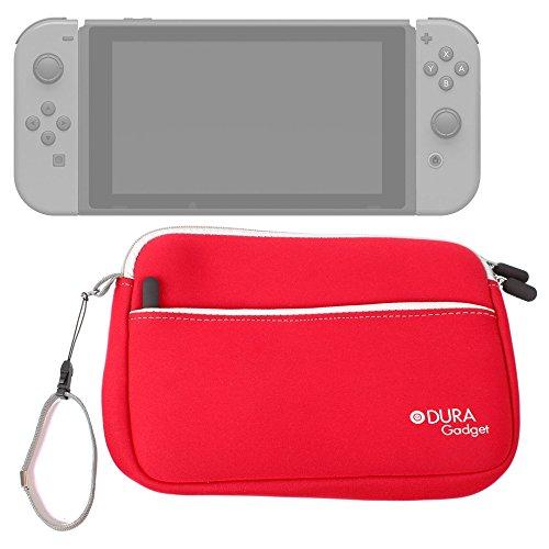 DURAGADGET Funda De Neopreno Roja para Videoconsola Nintendo Switch - con Bolsillo Exterior Y Correa De Mano