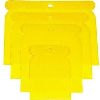 Haromac Kunststoffpachtel-Satz 4-teilig, 50-75-100-120 mm, Kunststoff, flexibel und säurefest, 38304004