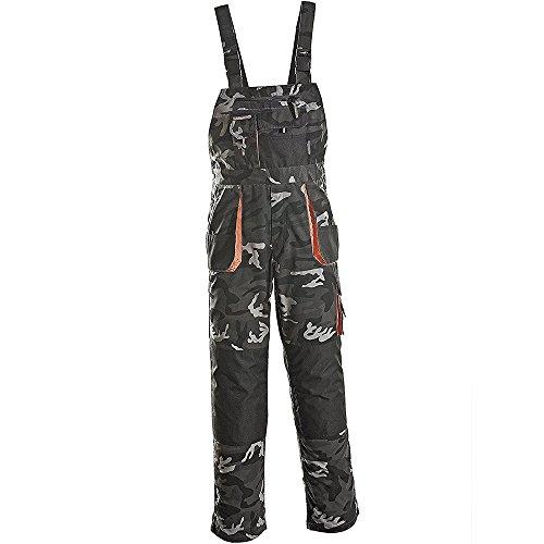 Terratrend Job 3229–44–6210Größe 44Herren Latzhose–Camouflage/grau/schwarz