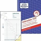 Avery Zweckform 20 x Formularbuch Lieferschein A6 selbstdurchschreibend VE=2x40 Blatt