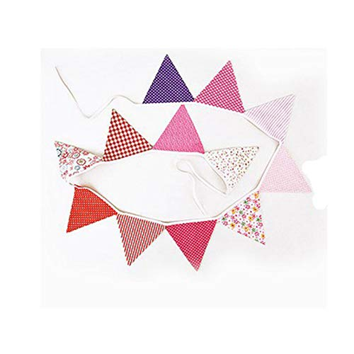 Wind Chimes & Hanging Decorations - 2.6m 12 Flags Cotton Pennant Hanging Strips Birthday Party Venue Layout Holiday Decorations - Supplies Decorating Party Decoration Hanging Decorative