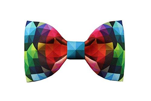 Haut Luxe Noeud Papillon Avec Colore Printing Bow