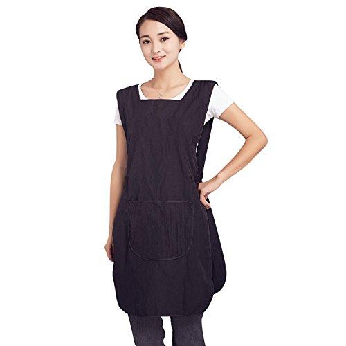 takestop® Schürze kleidüberwurf Abdeckung Kleid 48x 88cm Poncho Salon Wear paravanti Unisex für Friseur Barbier Haare schneiden (Kleid Abdeckung)
