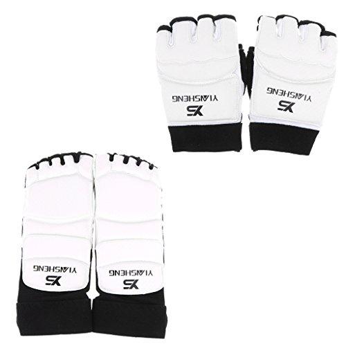 T TOOYFUL PU Karate Boxhandschuhe Und Fußschützer Taekwondo Martial Art Sparring Gear - XS -