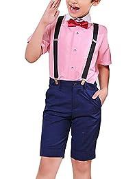 GladiolusA Conjunto Chicos Verano Mangas Cortas Camisas Y Pantalones Cortos Conjuntos De Ropa Trajes