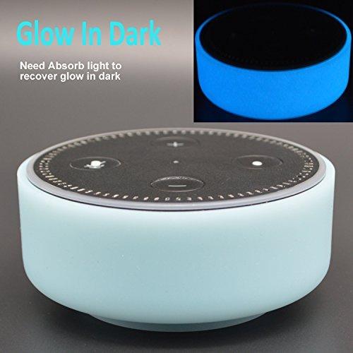 Silikon Schutzhülle für Amazon Echo Dot von auchee–Stilvolle Kleid Up Cover Case passend für Echo Dot 2nd Generation nur