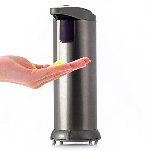 Sensor Desinfektionsmittel Seife Spender Berührungsloses für Küche Badezimmer (AD–02C 280ml Automatik Edelstahl)