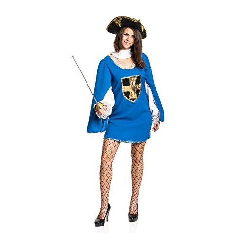 etier-Kostüm für Damen Faschingskostüm Größe 36/38 (3 Musketiere Kostüme Erwachsene)