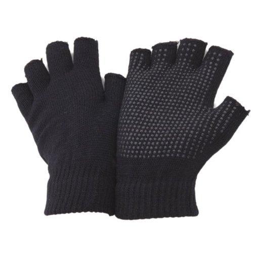 Undercover Erwachsenen Auto-Handschuhe Fingerlos oder mit Fingern mit Gummibeschichtung, 2Paar Gr. Einheitsgröße, Black Fingerless