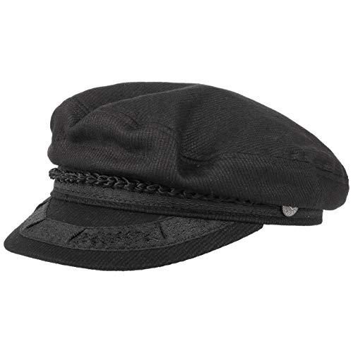 Brixton Athens Elbseglermütze Mütze Kapitänsmütze Baumwollmütze Schildmütze Cap Kappe Elbsegler Schirmmützen (56 cm - schwarz)