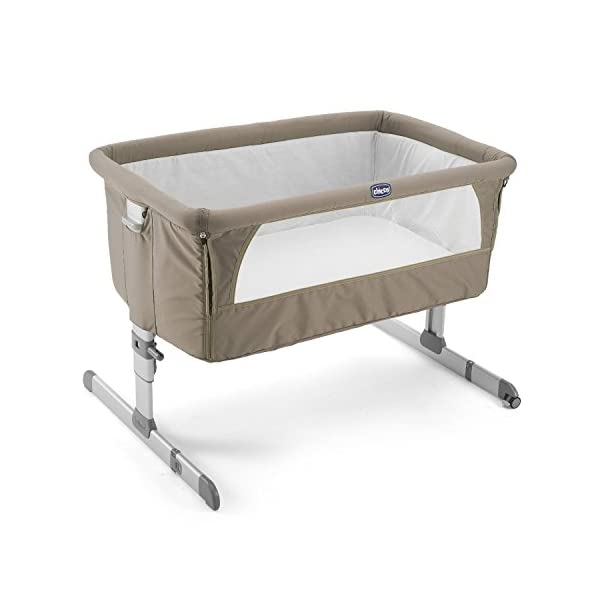 Chicco Next2me Side Sleeping Crib - Dove Grey Chicco Co-sleeping crib that promotes side-sleeping and allows you to sleep close to your child Can be used as a normal crib as baby grows.Open size: 66/81 x 93 x 69 Suitable from birth to 6 months/9 kg or until baby can pull themselves into an upright position 2
