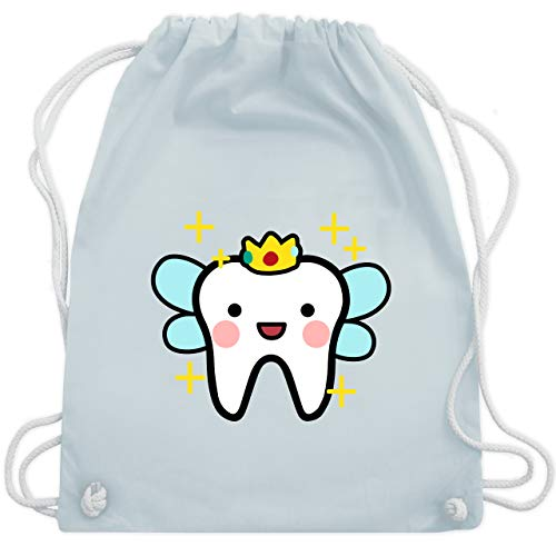 Karneval & Fasching - Zahnfee mit Krone - Unisize - Pastell Blau - WM110 - Turnbeutel & Gym Bag (Tasche Fee Mädchen Kostüm)
