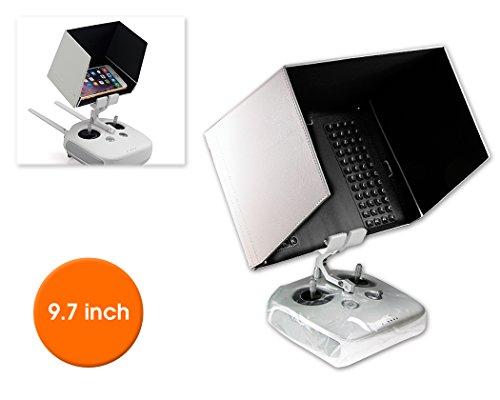 DSstyles DJI FPV Inspire 1 Inspire 2 Fernbedienung iPad Tablet-Monitor Phantom 4/ Phantom 3 Halterung 9.7 '' Sonnenschutz-Haube Blende Abdekung - Weiß