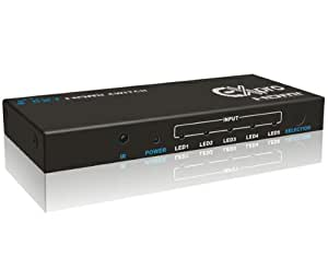 Ex-Pro® AV-Pro 5 Port HDMI IR Remote Switch- 5x1 (5 way input 1 output) - 1080p Full HD - v1.4 3D Support - HDMI Switcher